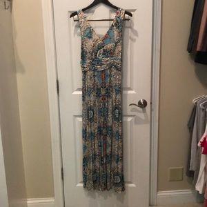 Anthropologie sleeveless maxi dress. Petite Large